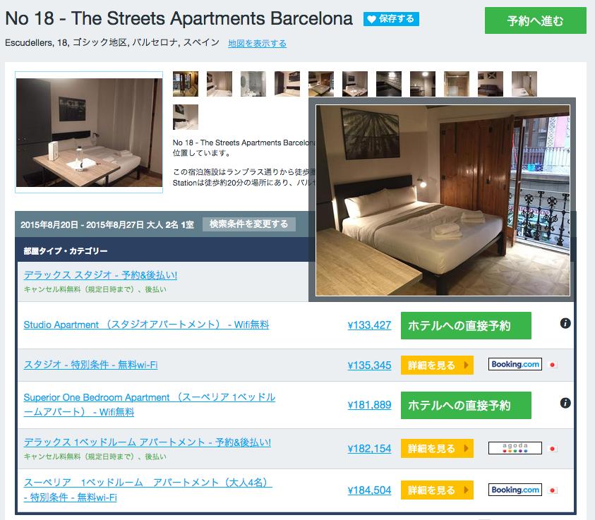 バルセロナ アパート検索サイト アパートを検索する3